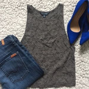 Lace Overlay Tank Top